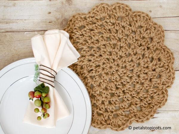 Jute Crochet Placemats