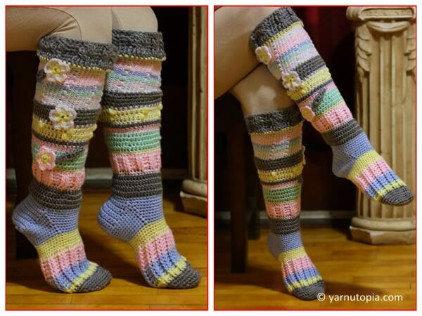 Knee High Socks Share A Pattern