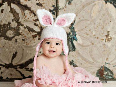 Easter bunny crochet hat
