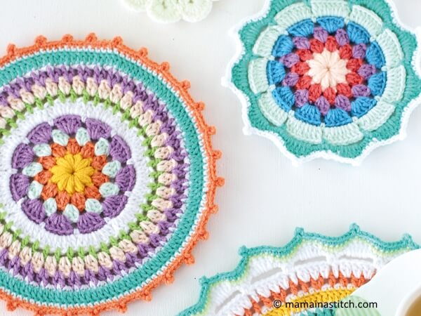 Colourful crochet mandala patterns