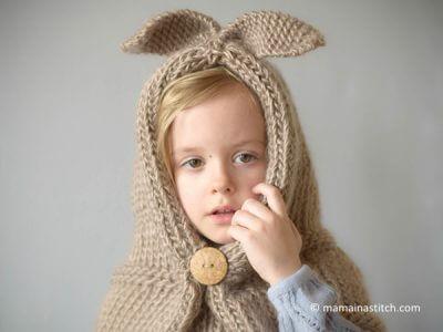 Velvet Rabbit Hooded Stole/Cowl Pattern