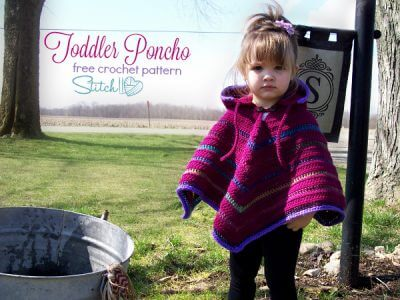 Toddler Hooded Poncho