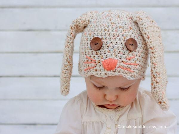 Free Crochet Bunny Hat Pattern Share A Pattern