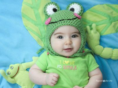 crochet frog hat pattern