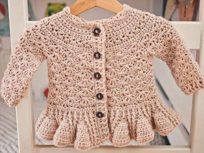 Soft Wool Peplum Cardigan