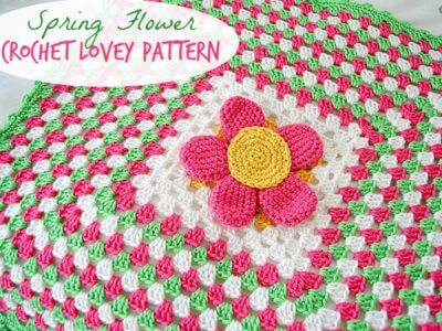 SPRING FLOWER CROCHET LOVEY PATTERN