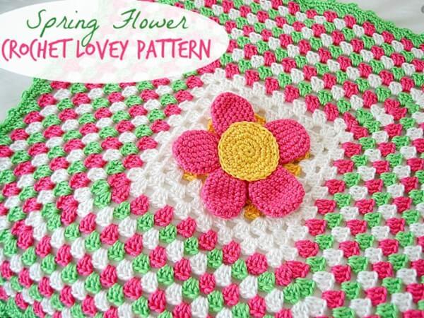 SPRING FLOWER CROCHET LOVEY PATTERN