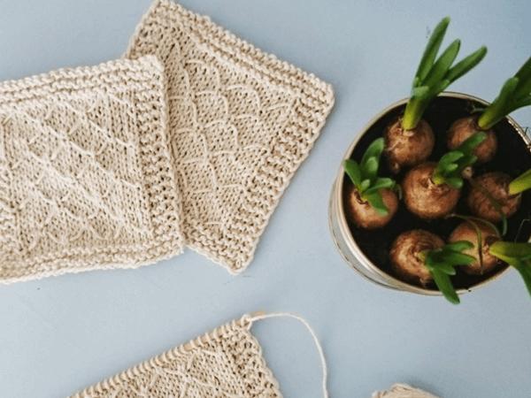 Knit Diamond Coaster Share A Pattern