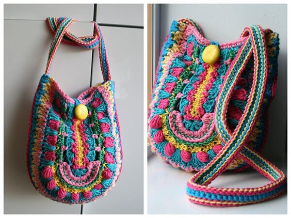Granny Crochet Color Bag Pattern