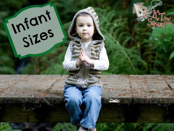 Woodland Hooded Vest Infants