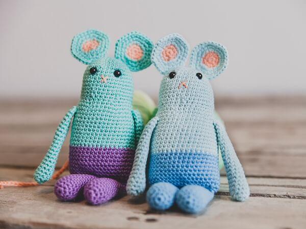 Little crocheted amigurumi mouse