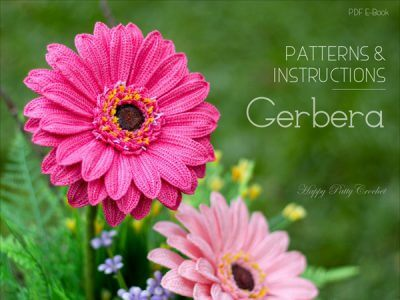 Crochet Gerbera Daisy Flower Pattern