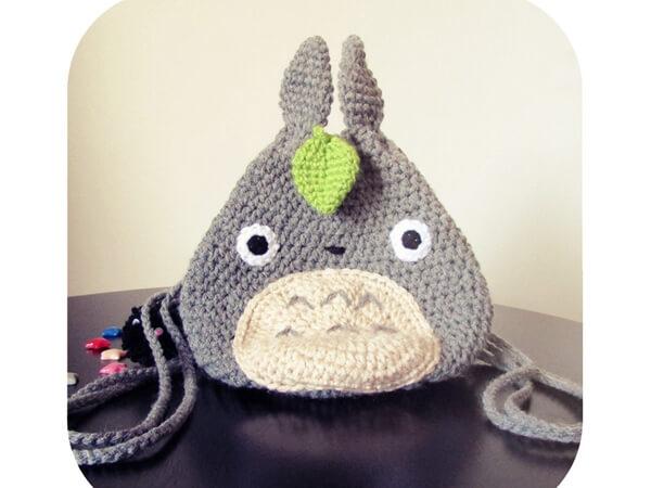 Amazing Kawaii Totoro Drawstring Mini Backpack