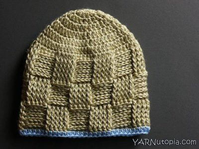 Basket Weave Baby Hat