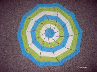 Reverse Pinwheel Blanket