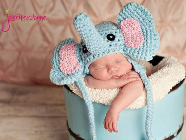 Elephant crochet hat
