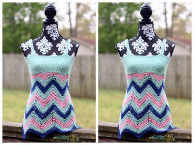 Women's Crochet Chevron Tank Top