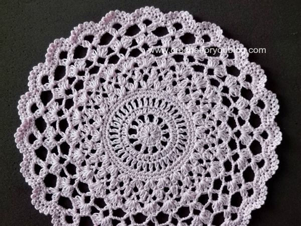 Pear Blossoms Doily