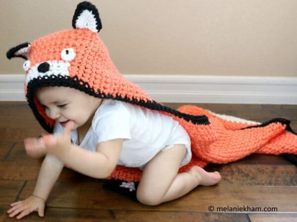 Fox Crochet Blanket Tutorial