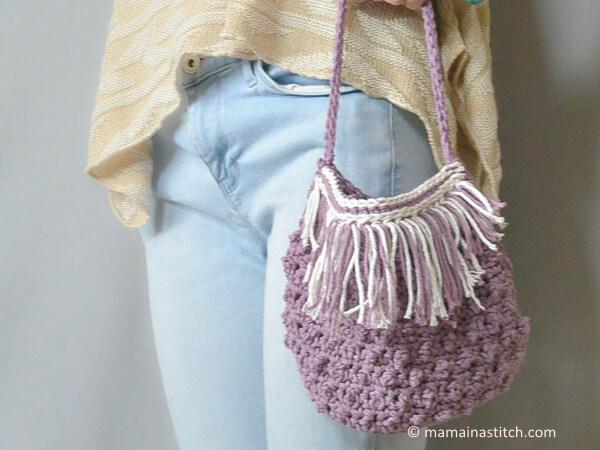 Festival Fringed Crochet Purse Pattern