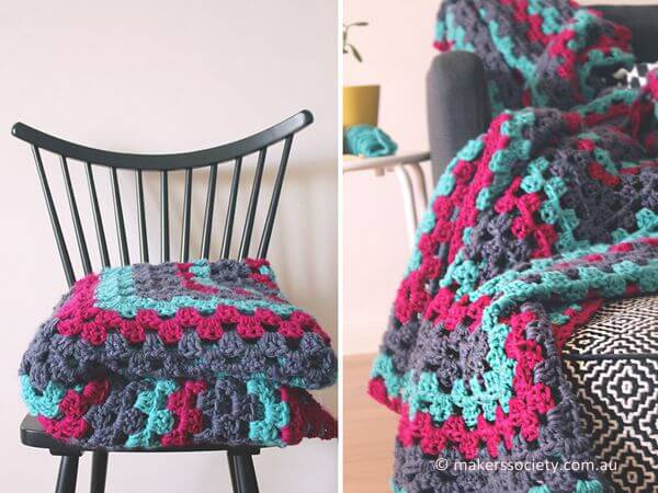 Make A Giant Granny Square Blanket Share A Pattern