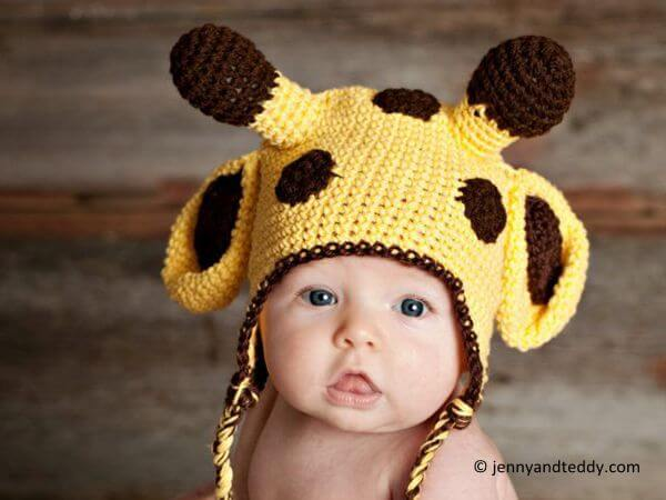 Crochet Hat Pattern Baby Giraffe Beanie Hat : Giraffe crochet hat-free pattern Share a Pattern