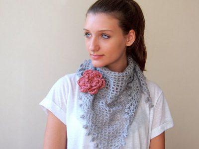 Lace crochet shawl