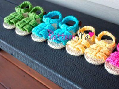 Crochet Baby Pattern Sandals