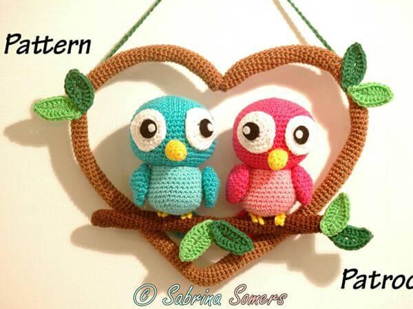 Crochet pattern Love birds
