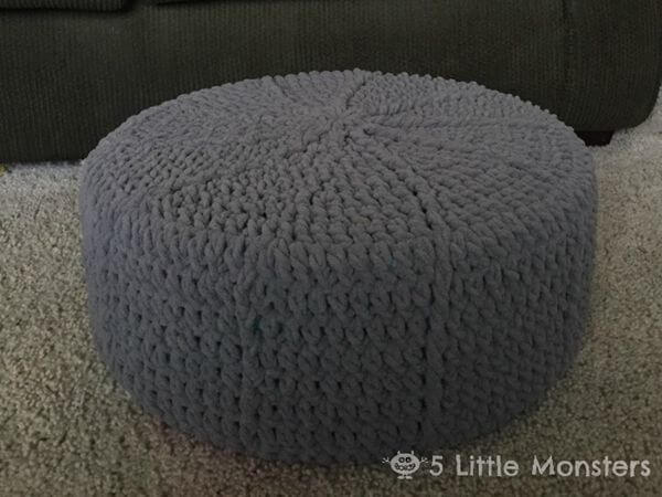 Round Crocheted PoufRound Crocheted Pouf