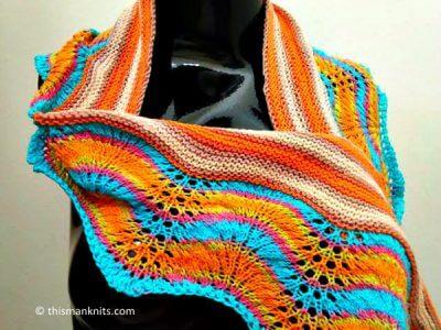 Sideways Knit Summer Scarf
