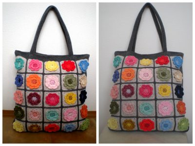 Pretty flower bag pattern