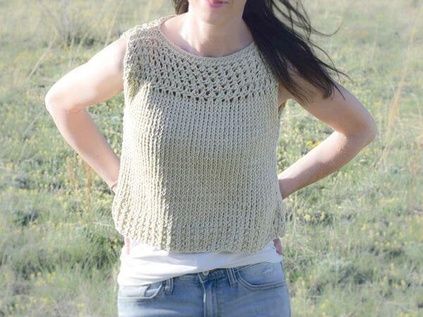 Summer Vacation Knit Top Pattern