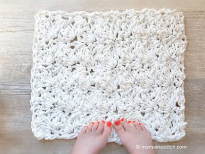 Bath Rug with Rope