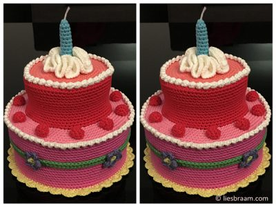 The Perfect Cake For A Crochet Lover