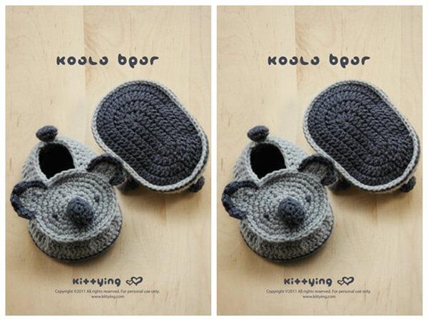 Koala Baby Booties