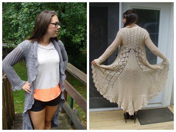 Long Sweater Crochet Pattern