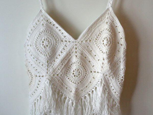 Women's crochet Top with Fringes