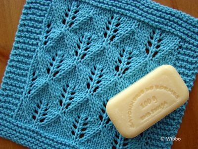 Leaf Lace Washcloth