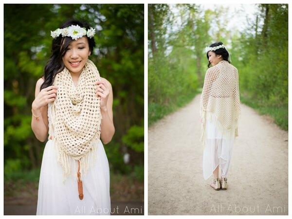 The Boho Crochet Wrap
