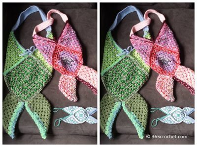 Granny Square Mermaid/Fish Tail Bag
