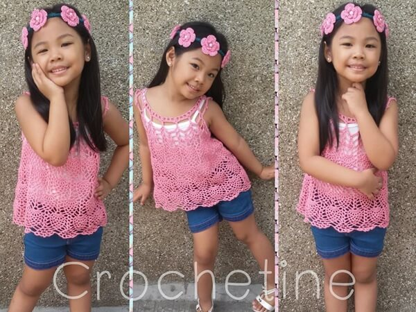 Pineapple Cascade Baby Dress