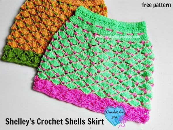 Shelley's Crochet Shells Skirt