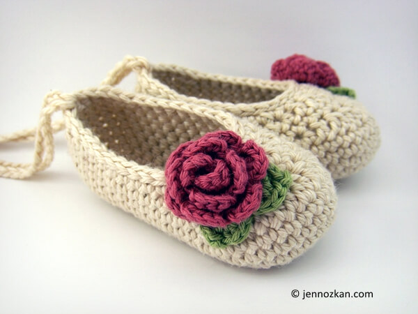 Small Rosette Booties