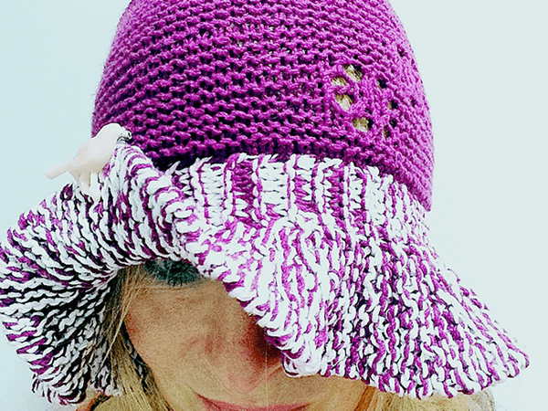 Floppy knitted hat