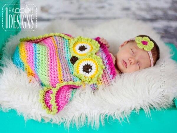 Ava the Owl Baby Sleeping Bag