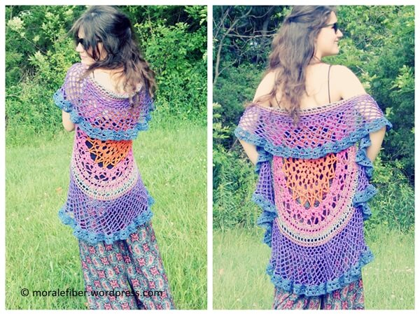 Free Crochet Pattern For Mandala Vest : Lotus Mandala Circular Vest Share a Pattern