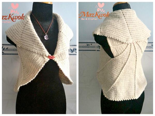 Crochet Whirlwind Circle Vest