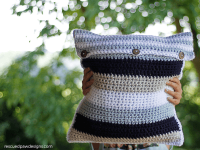 Striped Pillow Crochet Pattern