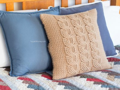 Cabled Throw Cushion Cover